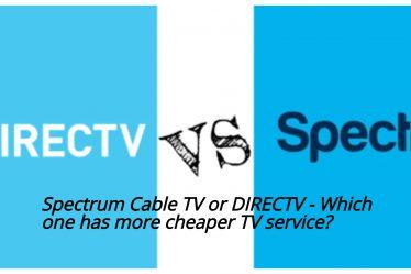 Spectrum cable Tv Directv